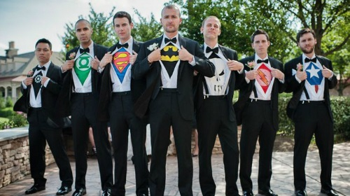 groomsmen superman cartoon